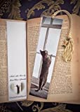 Sepia Playful Daisy Tabby Kitty Cat Kitten in Window Photo Bookmark w/ Cloisonne Fish Beads Fine Art Photography Photo Laminated Handmade Bookmark