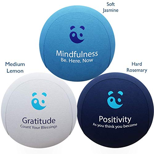 MindPanda - 3X Mind & Hand Therapy Stress Ball Bundle - Aromatherapy and Motivational Quotes - Includes Free Mindfulness E-Book & Hand Exercise Leaflet