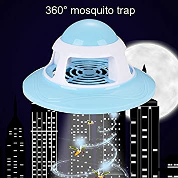 Wildlead L/ámpara Recargable Inteligente de la Muerte del Insecto de la Seguridad de la luz del Asesino del Mosquito de la Carga del USB