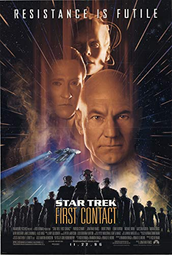 "Star Trek: First Contact 1996 Authentic 27"" x 41"" Original Movie Poster Patrick Stewart Drama U.S. One Sheet Advance"