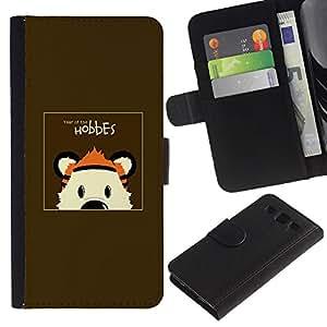 SAMSUNG Galaxy S3 III / i9300 / i747 , la tarjeta de Crédito Slots PU Funda de cuero Monedero caso cubierta de piel (Hobbes Tiger)