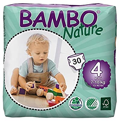 Bambo Nature Baby Diapers Classic, Size 4 (2 Cases of 180)
