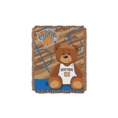 The Northwest Company Officially Licensed NBA New York Knicks Half Court Woven Jacquard Baby Throw Blanket, 36