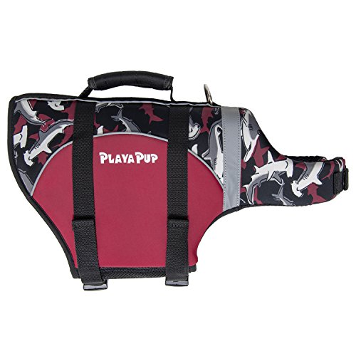 PlayaPup Dog Life Jacket, X-Small, Reef Red by PlayaPup