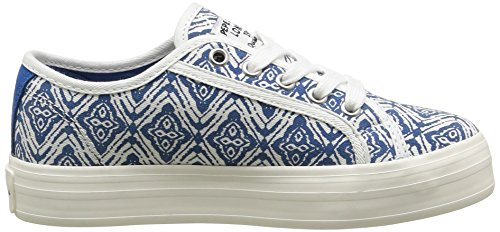 Pepe Jeans Hannah Print - Zapatillas de Deporte Niñas Azul / Blanco