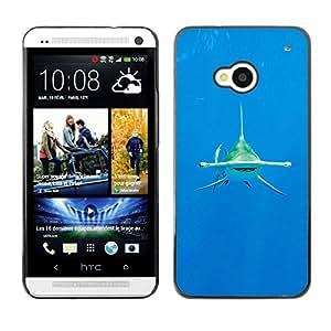 Cubierta protectora del caso de Shell Plástico || HTC One M7 || Ocean Tropical Water Sea @XPTECH