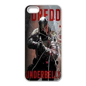 DIY Printed Dredd hard plastic case skin cover For iPhone 5, 5S SNQ343176