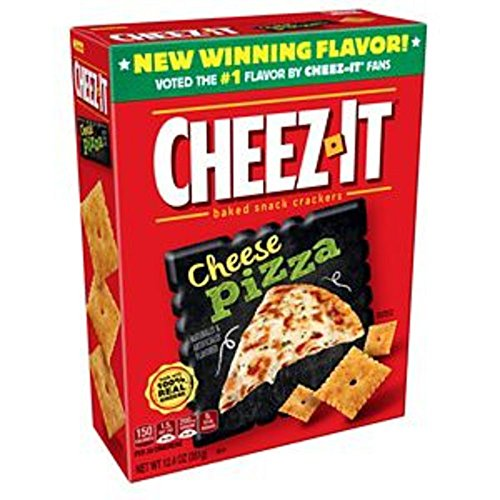 Cheez-It Baked Snack Cheese Crackers, Cheese Pizza, 12.4 oz Italian Cheese Italian Pizza