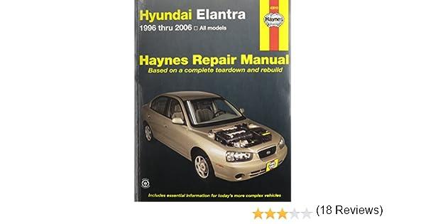 Haynes hyundai elantra 96 10 repair manual 0038345430107 haynes hyundai elantra 96 10 repair manual 0038345430107 amazon books fandeluxe Gallery