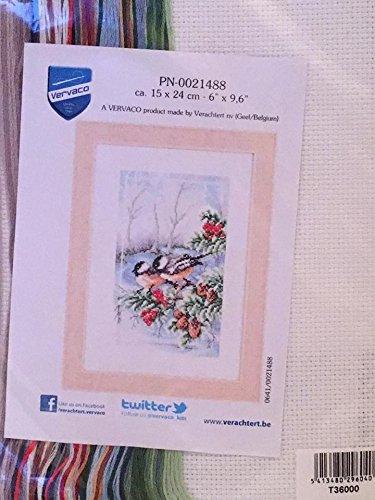 Vervaco Christmas Chickadee Counted Cross Stitch Kit
