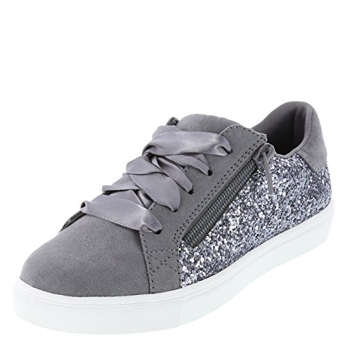 Brash Grey Glitter Girls' Sammie Sneaker 3.5 Regular