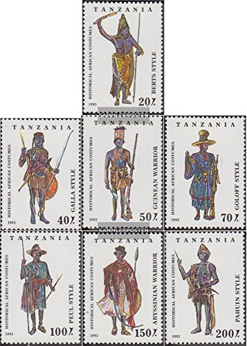 1690 Costume (Tanzania 1685-1691 (complete.issue.) 1993 Costumes (Stamps for collectors) Uniforms / costumes)