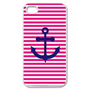 Zheng caseZheng caseiPhone 4/4sCovers Hard Back Protective-Cute Colorful Stripe-Anchor Navy Case Perfect as Christmas gift(8)