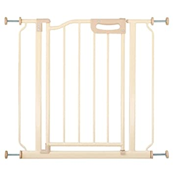 Barrera seguridad Narrow Baby Gate For Stairs Puertas Interiores Metal Pressure Mounted Pet Door para Perros Gatos 60-109cm De Ancho (Tamaño : 82-95cm): ...