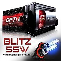 OPT7 BLTZ 55W 9004 Bi-Xenon HID Kit - 3X Brighter - 4X Longer Life - All Bulb Sizes and Colors - 2 Yr Warranty [8000K Ice Blue Light]