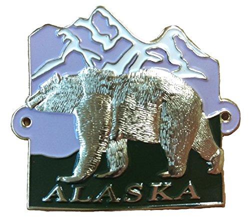Alaska - Bear - Hiking Stick Medallion
