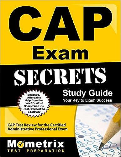 Cap exam secrets study guide cap test review for the certified cap exam secrets study guide cap test review for the certified administrative professional exam stg edition fandeluxe Images