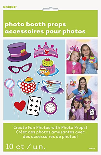 Mad Hatter Tea Party Photo Booth Props, 10pc