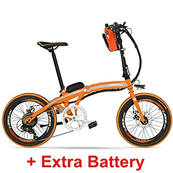 LANKELEISI QF600 Elite 240W 48V 12Ah Portátil de 20 Pulgadas E Bicicleta Plegable, Bicicleta Eléctrica