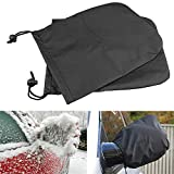 Iuhan  Side View Car Winter Snow Ice Mirror Covers, 2 Pcs Car Side Mirror Snow Covers Set Protect Auto Exterior Rear View Mirrors (Black)