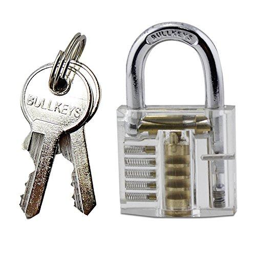Aussel Kristall Profi Visible Cutaway von Vorhängeschloss zu Schlosserei Lock-Trainings-Trainer mit 2 Schlüsseln gut für Anfänger