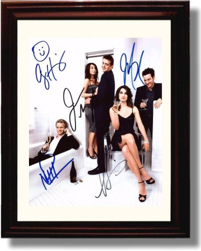 Framed How I Met Your Mother Autograph Replica Print - How I Met Your Mother Cast