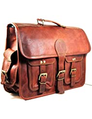 Urban dezire Leather Messenger bag Shoulder Men Laptop Briefcase Vintage Satchel