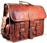 Urban dezire Leather Messenger bag Shoulder Men Laptop Briefcase Vintage Satchel
