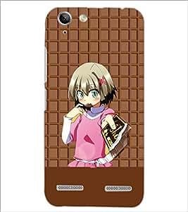 PrintDhaba Cute Girl D-3942 Back Case Cover for LENOVO A6020a46 (Multi-Coloured)