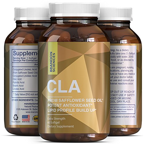 Potent Conjugated Linoleic Acid - Promotes Weight Loss - CLA Supplement For Men And Women - Burn Belly Fat - Boost Metabolism - Pure CLA Safflower Oil Promotes Natural Weight Loss - Brandon Sciences