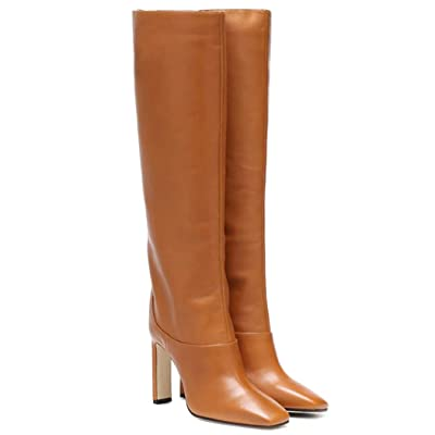 Women's Knee High Boots Pull On Square Toe Thick Heel Fashion Boot   Knee-High