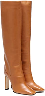 Women's Knee High Boots Pull On Square