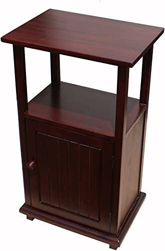 D-Art Mahogany Finish Home Indoor Wooden Simplicity End Display Table Furniture