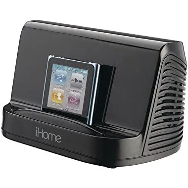 iHome iHM16B Portable Stereo Speaker System for iPad, iPod and MP3 Player, 3.5 mm line-in  (Black) (Discontinued by Manufacturer)