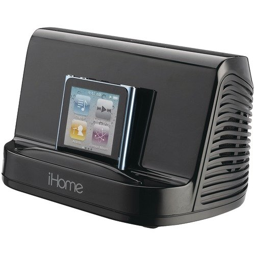 iHome iHM16B Portable Stereo Speaker System for iPad, iPod and MP3 Player, Black