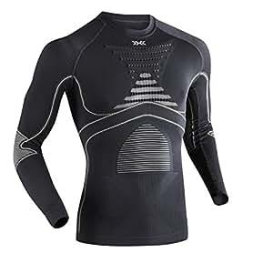 X-Bionic Camiseta M/L EVO Hombre Carbon/Gris Perla L/XL Camiseta M/L EVO Hombre Carbon/Gris Perla L/XL, Hombre, Carbon/Gris Perla, L/XL
