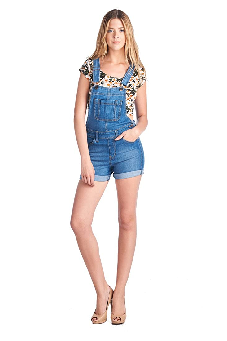 Parkers Jeans Womens Festival Denim Overall Shorts