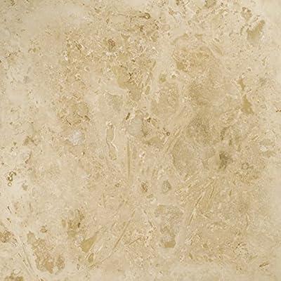 "Emser Tile ""Travertine Crosscut"" Filled & Honed Travertine Tile, 12"" x 12"", Pendio Beige"