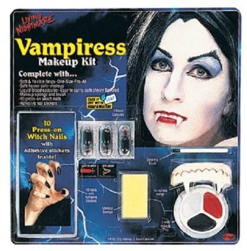 Fun World 'Vampiress Makeup Kit' Halloween Accessory, Red/Black (Vampiress Makeup)