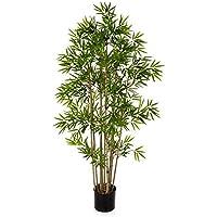 artplants.de Bambú Artificial con 480 pequeñas Hojas, 80cm