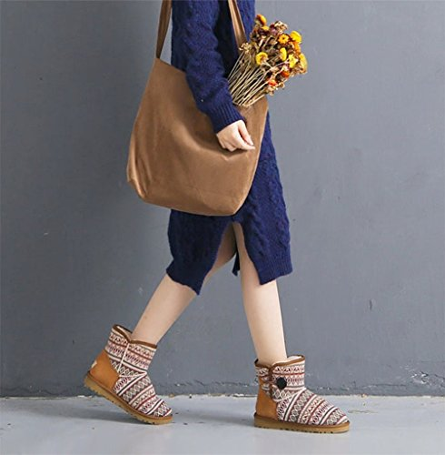 Shopper Khaki Dark Satchel Bag Crossbody Shoulder Messenger Womens Bag Bookbag Tote qPOTF