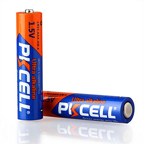 AAA 1.5V LR03 E92 AM4 MN2400 Alkaline Batteries 1600Pcs by PKCELL (Image #1)
