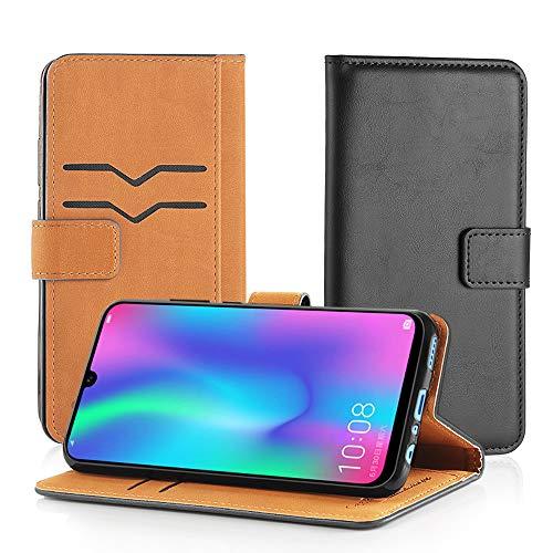 GeeRic Huawei nova lite3 ケース 手帳型 P Smart 2019 財布型 カバー スタンド novalite 3 ケース PUレザー カード収納 耐衝撃 ブック型カバー ブラック