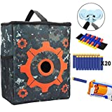 nerf bullet carrying bag - DEKITRU Target Pouch Storage Bag for Tactical Nerf Gun Games with 1 Dart Wrister 20 Bullets 1 Hook for Nerf N-strike Elite Series