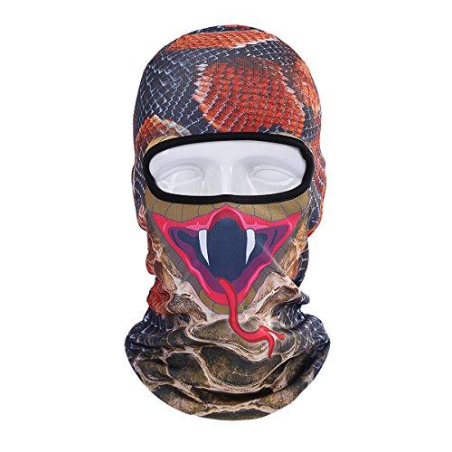 Runtlly Unisex Animal Face 3D Print Ski Balaclava Full Face Cycling Mask Ski Mask