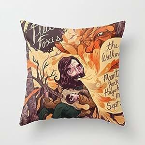 Poster Throw Pillow Case Shell Decorative Pillowcase 18 X 18