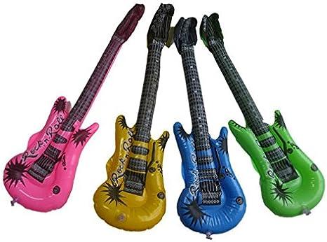 Juego de 4 guitarras hinchables para fiestas, colores al azar ...