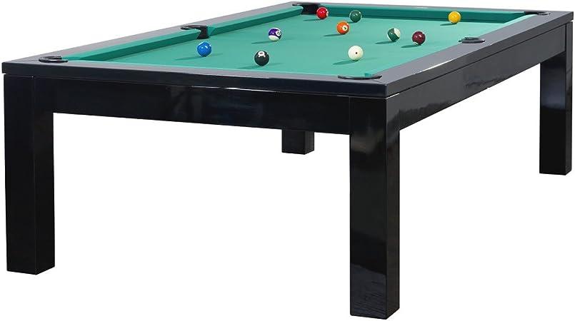 Mesa de billar Modelo Olivia Black 8 FT. Verde verde: Amazon.es: Deportes y aire libre