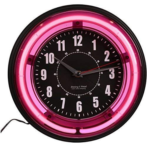 Sterling and Noble 11-inch Neon Wall Clock, Neon ()