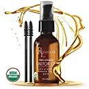Organic Castor Oil for Hair Growth, Eyelashes, Eyebrows and Skin. Cold Pressed Hexane Free Haircare by Rain Lillie